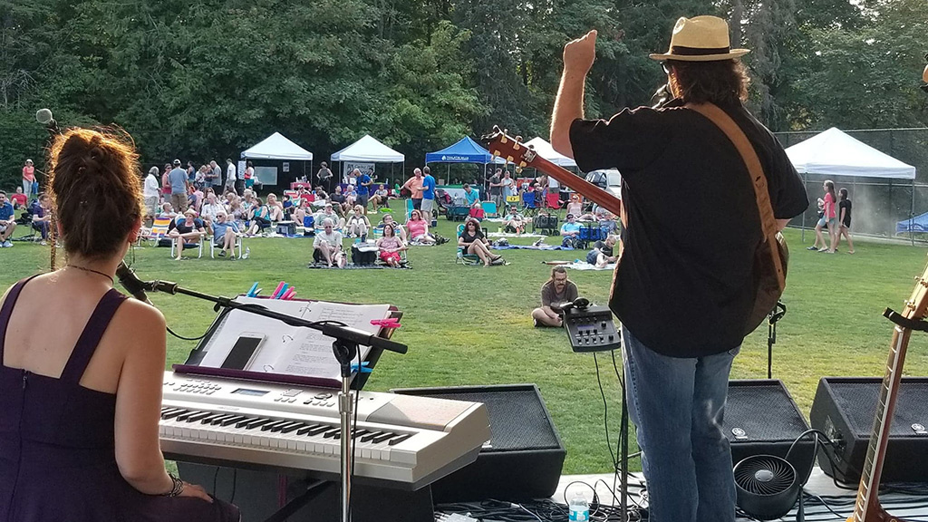Mark Seymour and Haley Michelle at Tualatin Hills Parks and Recreation Summer Concert Series in Tualatin, Oregon